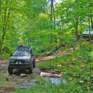 4x4 offroad at windrock park in tennesse