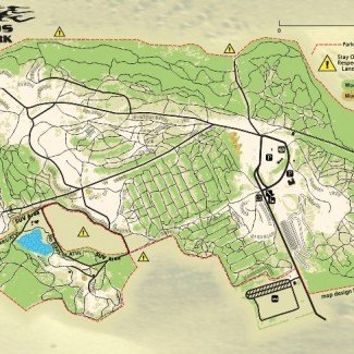 Badlands Off-Road Park Attica Indiana Map Trails