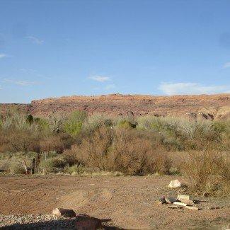 Desert Moab Utah Behind the Rocks