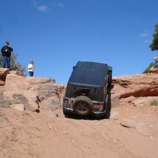 Obstacle on Steel Bender Moab Utah