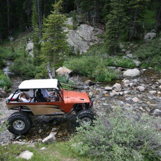 Off-Road in a Creek Holy Cross Trail