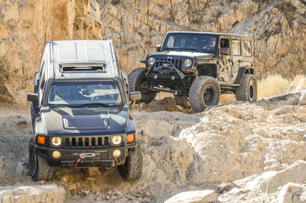 El Paso Mountain Off-Road Hummer Jeep