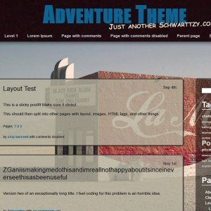 WordPress-Theme-Adventure