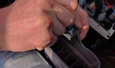 H3 Hummer BlueTooth Reattaching Vent Padding Foam 3 Install
