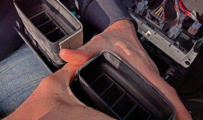 H3 Hummer BlueTooth Reattaching Vent Padding Foam 5 Install