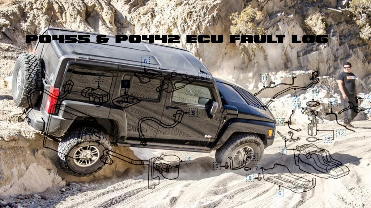 P0455 & P0442 ECU Fault Log H3 Hummer
