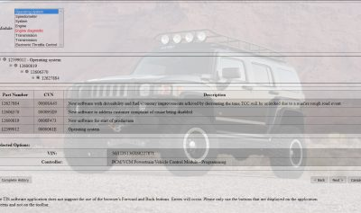 H3 Hummer 12627884 GM PCM Flash Update