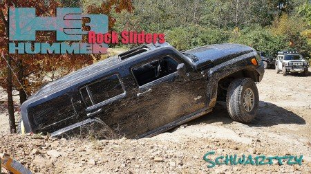 h3 hummer schwarttzy h3 rock sliders