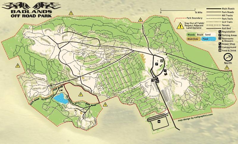 Badlands OffRoad Park Attica Indiana Map Trails Schwarttzy - Indiana road map