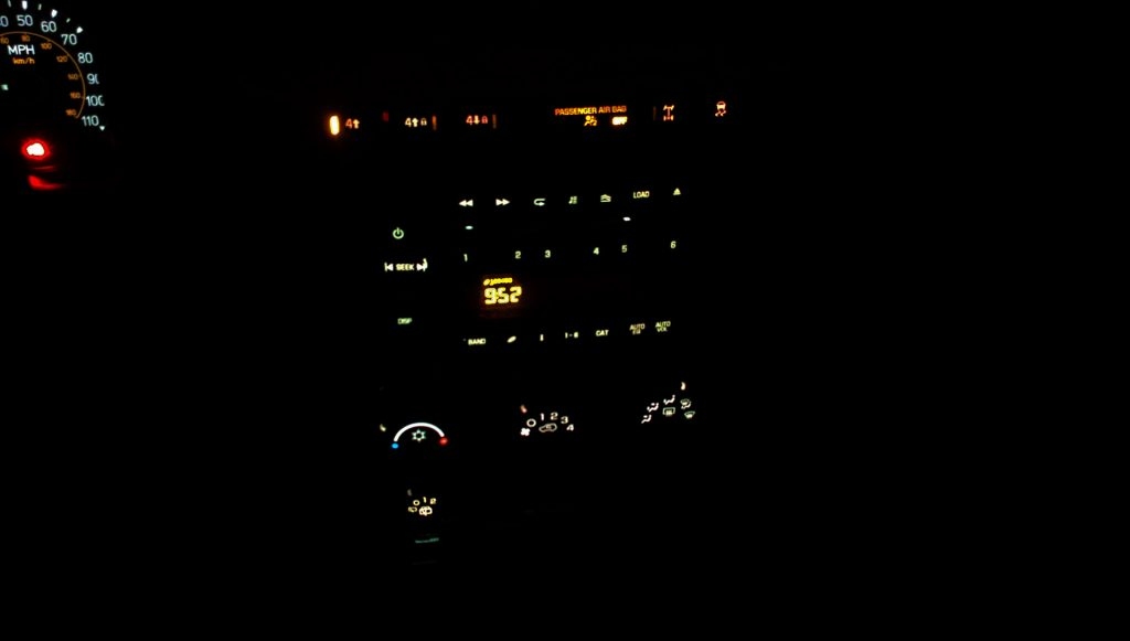 H3 Hummer GM 15840354 CONTROL, AC Instrument Panel Light Bulb Burnt Out Repaired