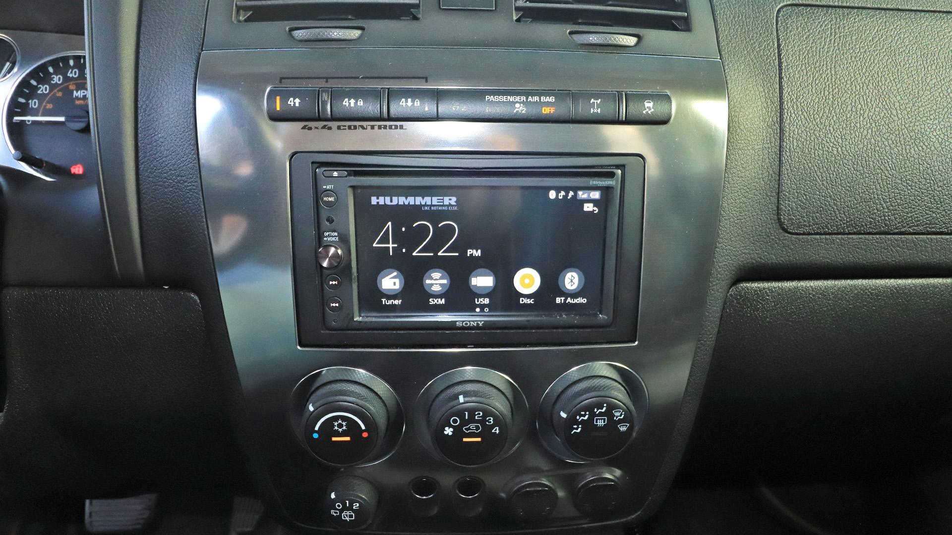 H3 Hummer Sony XAV-AX200 Android Auto Apple Carplay Radio Head Unit